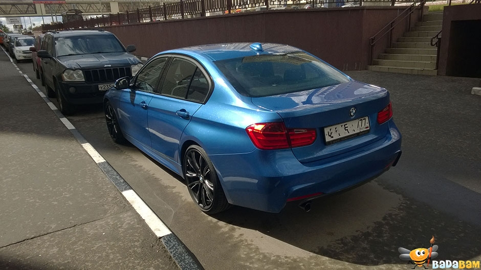 BMW f30 m sport estoril blue